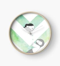 Watercolor Graphic - Green Clock
