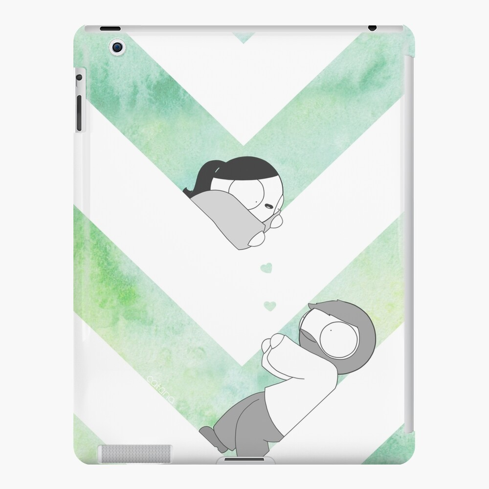 Aquarell Grafik - Grün iPad-Hülle & Skin