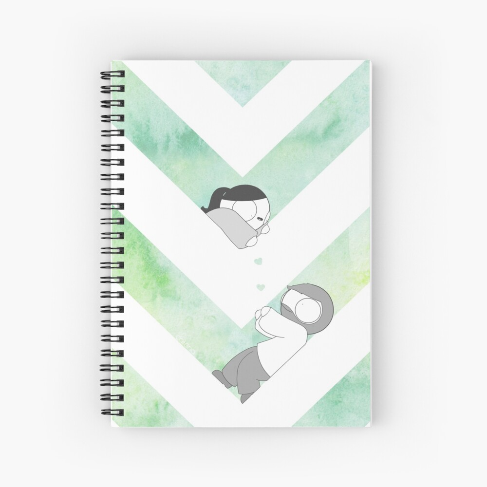Watercolor Graphic - Green Spiral Notebook
