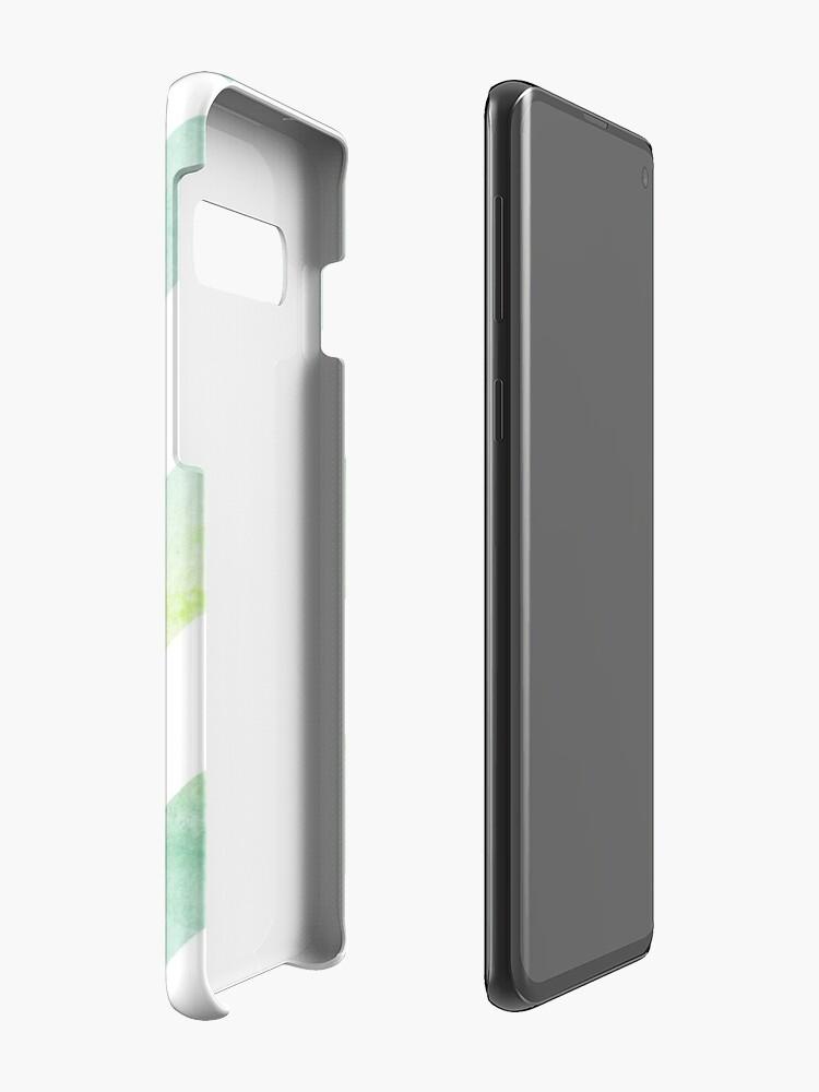 Alternative Ansicht von Aquarell Grafik - Grün Hülle & Klebefolie für Samsung Galaxy