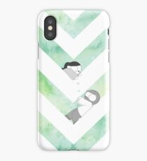 Watercolor Graphic - Green iPhone Case