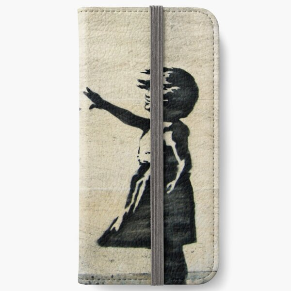 Banksy's Girl with a Red Balloon III iPhone Wallet