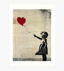 Banksy's Girl with a Red Balloon III Art Print