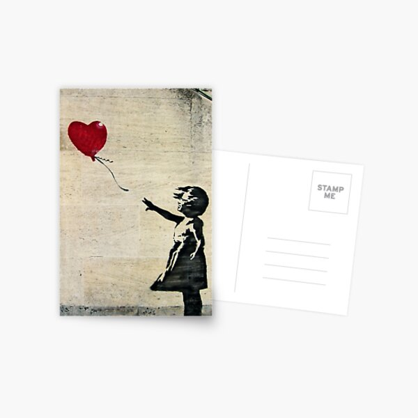 Banksy's Girl with a Red Balloon III Postcard