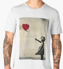 Banksy's Girl with a Red Balloon III Men's Premium T-Shirt