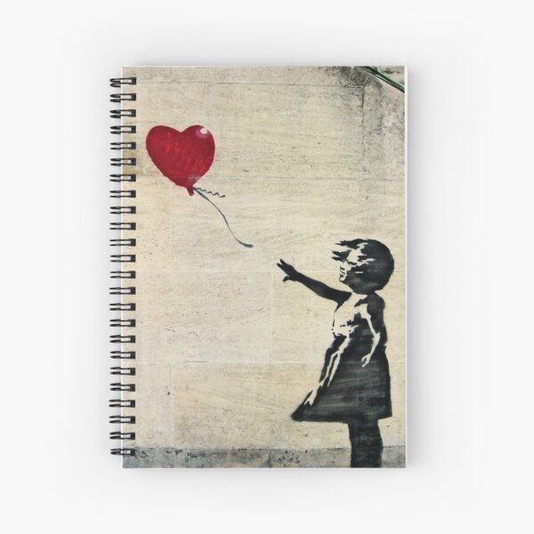 Banksy's Girl with a Red Balloon III Spiral Notebook