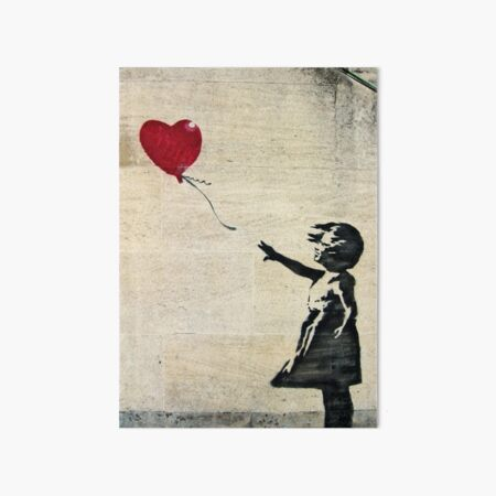 Banksy's Girl with a Red Balloon III Art Board Print