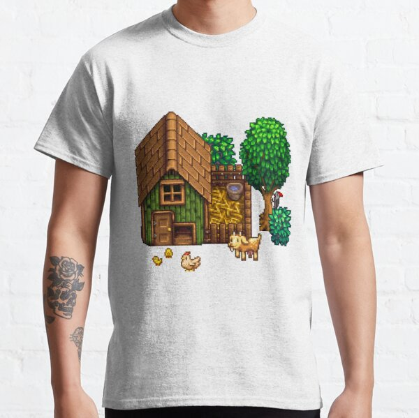 Retro Pixel Farm House Classic T-Shirt