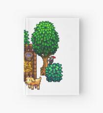 Retro Pixel Farm House Hardcover Journal