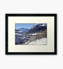 A white landscape Framed Print