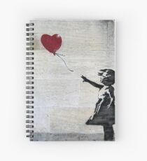 Banksy's Girl with a Red Balloon Spiral Notebook