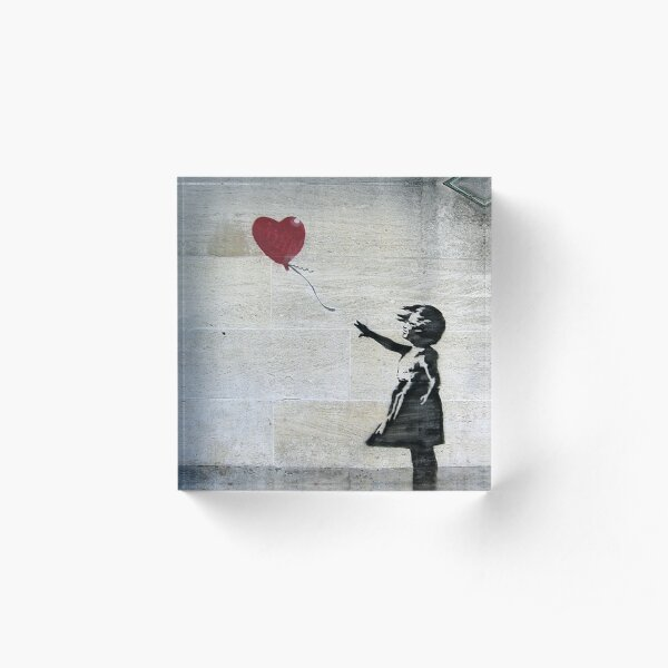 Banksy's Girl with a Red Balloon Acrylic Block