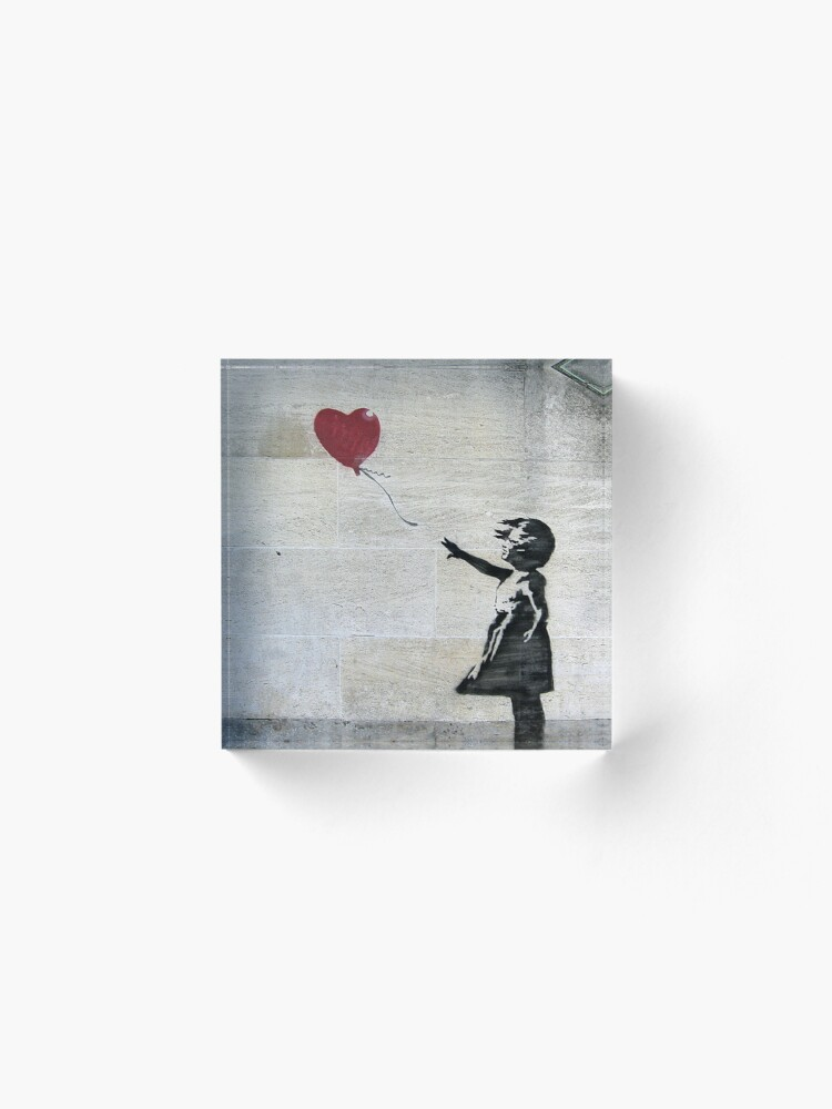 Alternate view of Banksy's Girl with a Red Balloon Acrylic Block