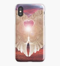 Angel Heart at sunset iPhone Case