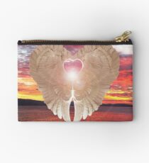 Angel Heart at sunset Studio Pouch