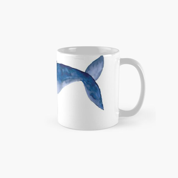 Humpback Whale in watercolor Classic Mug