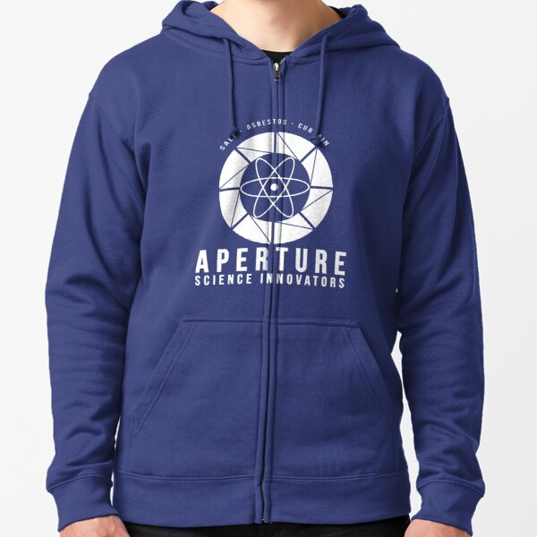 Portal Aperture Science  Zipped Hoodie