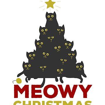 Meowy Christmas Tree by CatCrewsDesign