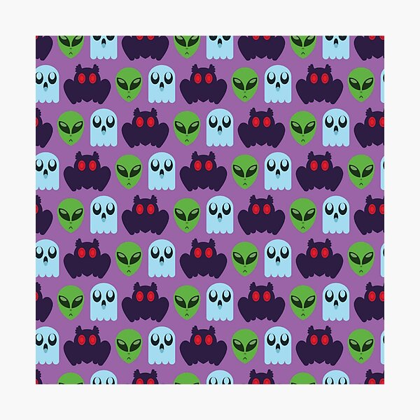 Spooky Pattern Photographic Print