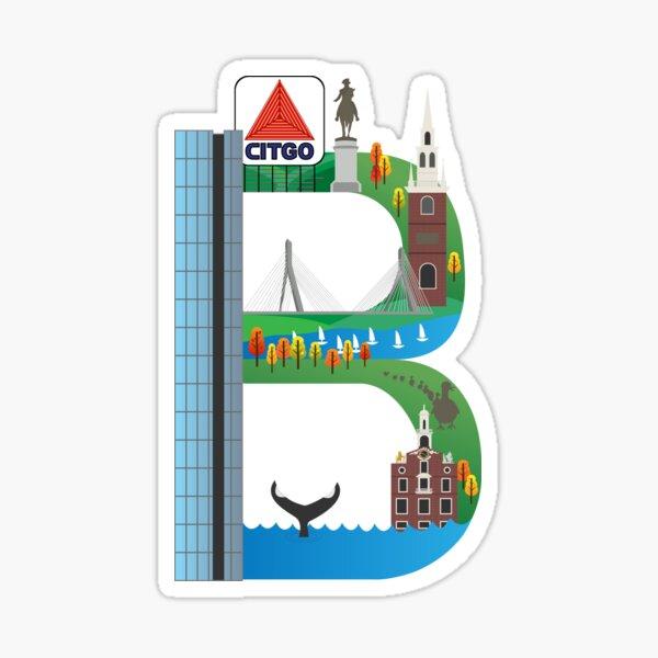B For Boston Sticker