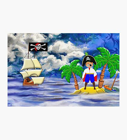 Toon Boy No 20 a Pirate Boy scene Photographic Print