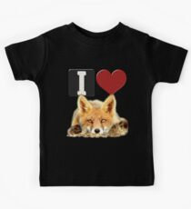 I LOVE FOXES Kids Clothes