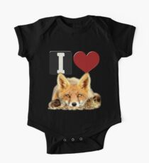 I LOVE FOXES One Piece - Short Sleeve