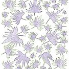 Canary Vine Leaves - Purple And Green by Sandra Foster
