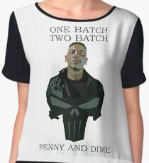 One Batch, Two Batch, Penny & Dime. Frank Castle Women's Chiffon Top