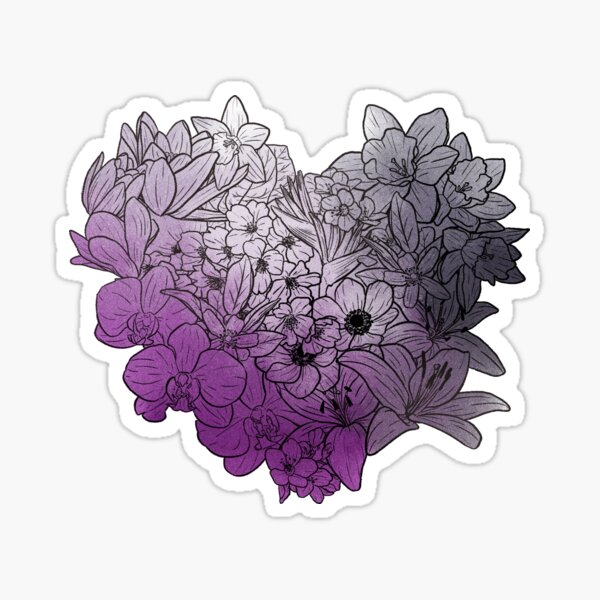 Flowers - Asexual Sticker