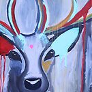 Abstract Deer by Megan Arnold