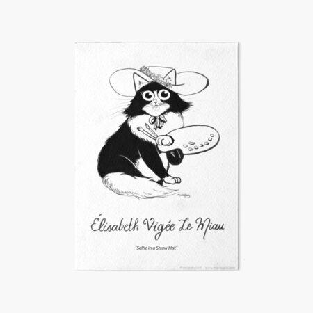 #meowdernart - Elisabeth Vigée Le Miau Art Board Print