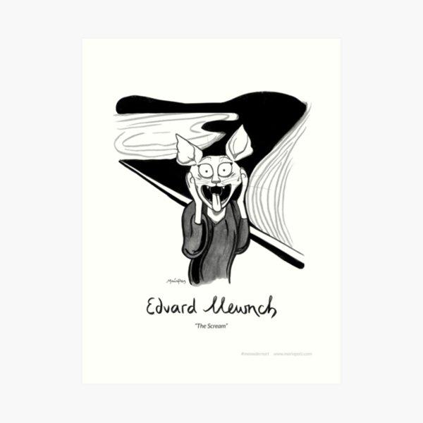 #meowdernart - Edvard Mewnch Art Print