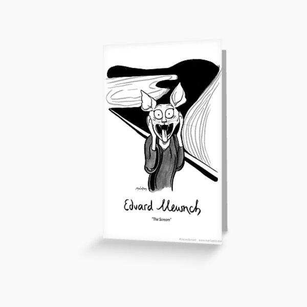 #meowdernart - Edvard Mewnch Greeting Card