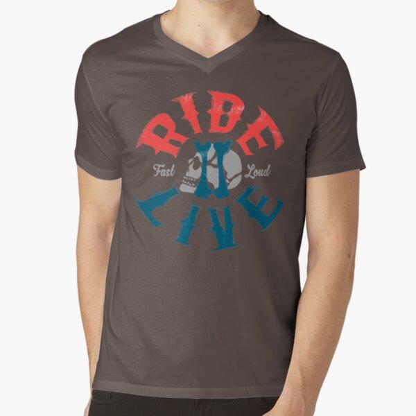 Ride 2 live V-Neck T-Shirt