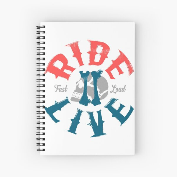 Ride 2 live Spiral Notebook