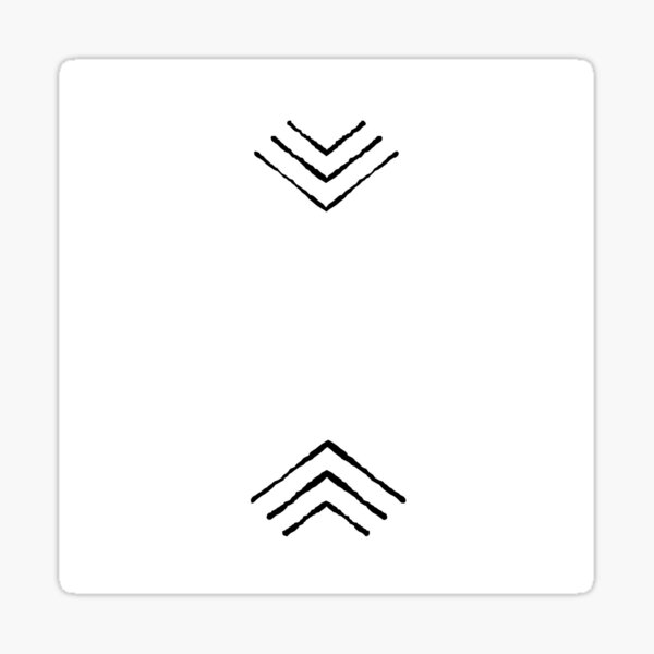Boho Triangles  Sticker