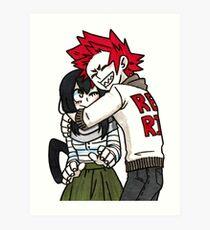 Tsuyu&Kirishima Hug Art Print