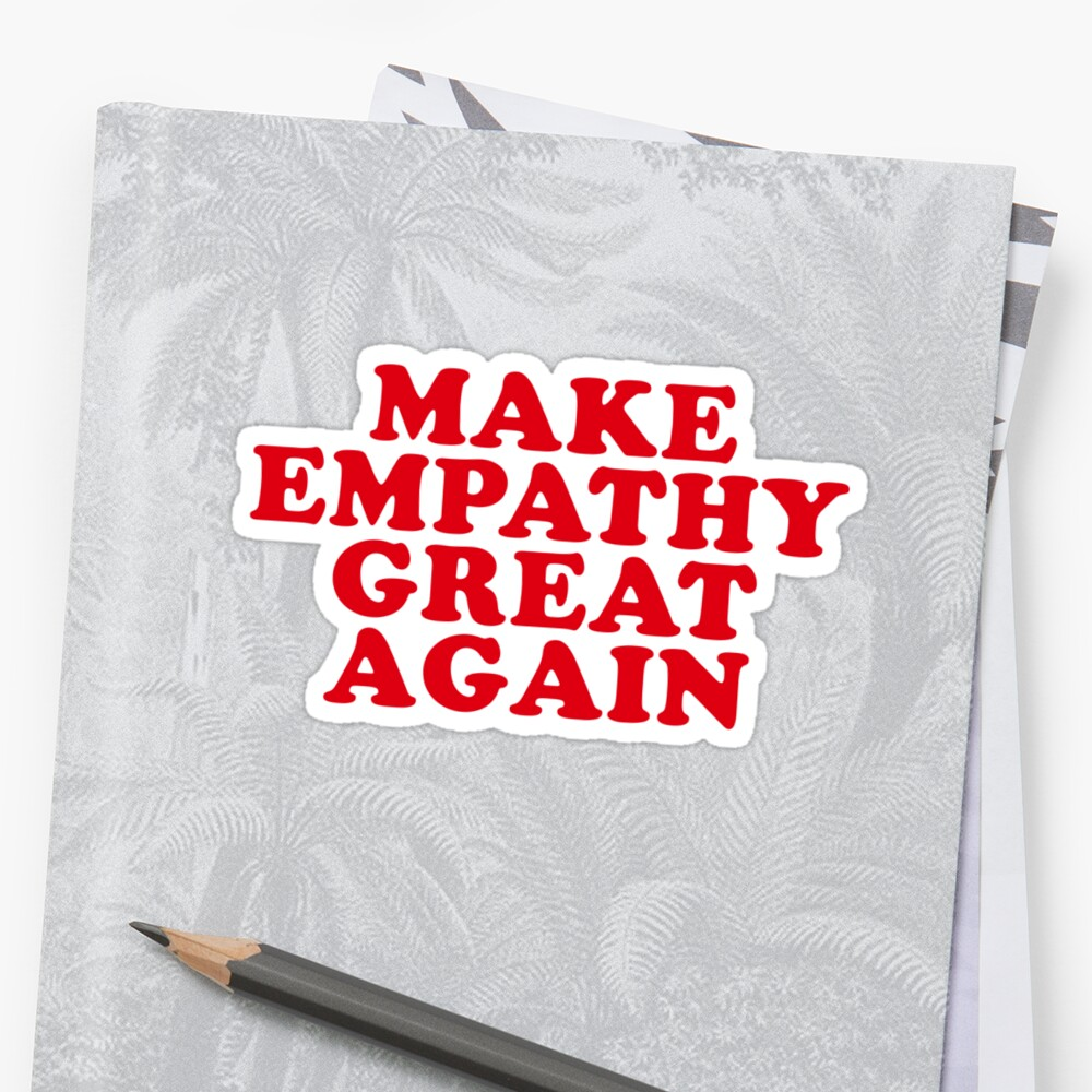 hacer de nuevo la empatía Pegatina