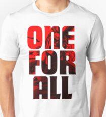 Boku No Hero Academia Alle können einen für alle Slim Fit T-Shirt
