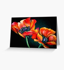 Le Dernier Cri....Poppies... Greeting Card