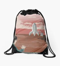 Get Your Ass to Mars! Drawstring Bag
