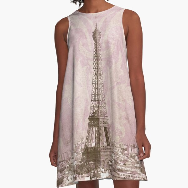 romantic Paris A-Line Dress
