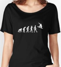 Evolution of Snowboarding Women's Relaxed Fit T-Shirt