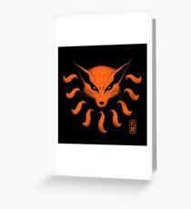 9 Tailed Demon Fox Greeting Card