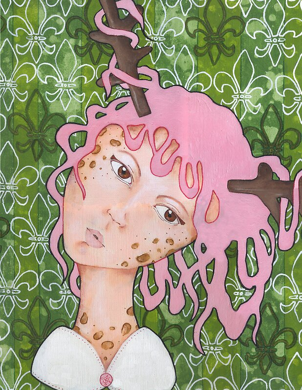 Wallpaper Deer Girl by Endofmarch