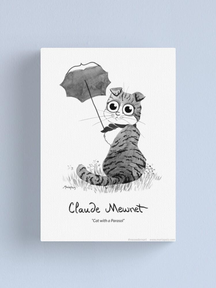 Alternate view of #meowdernart - Claude Mewnet Canvas Print