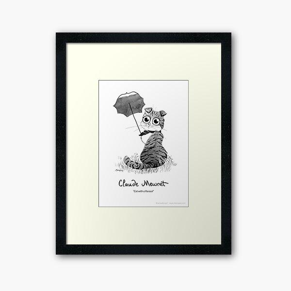 #meowdernart - Claude Mewnet Framed Art Print