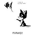 #meowdernart - Miauksy by mariapaizart