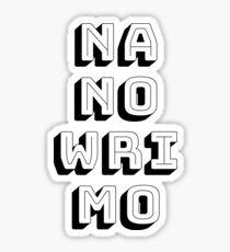 NaNoWriMo November—Writing Month Sticker